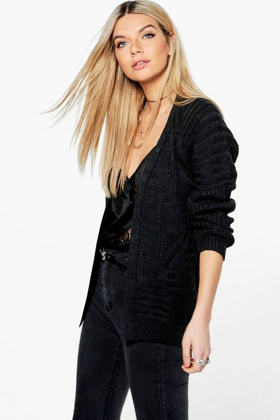 Olivia Rib Sleeve Fisherman Cardigan