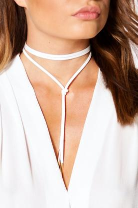 Elena Suedette Wrap Around Choker