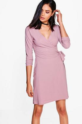 Harriet Wrap Over Belted Dress