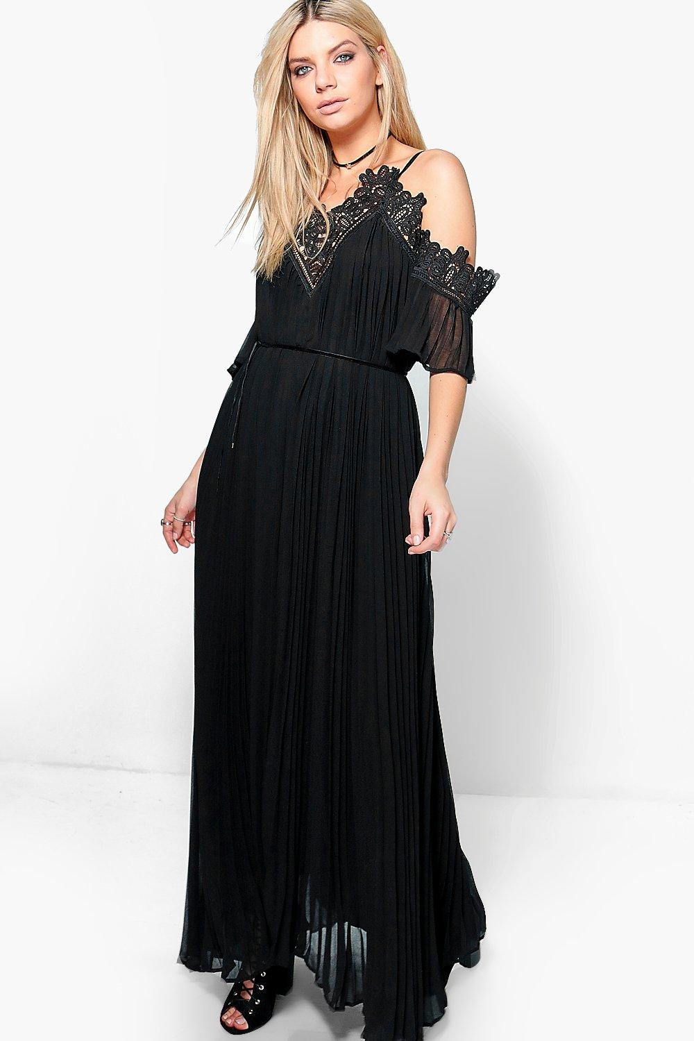 Daisy Boutique Premium Crocket Pleated Maxi