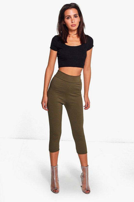 Priya 3/4 Length Ribbed Leggings