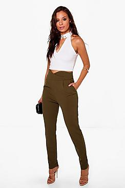 Natalya High Waisted Tailored Woven Trousers