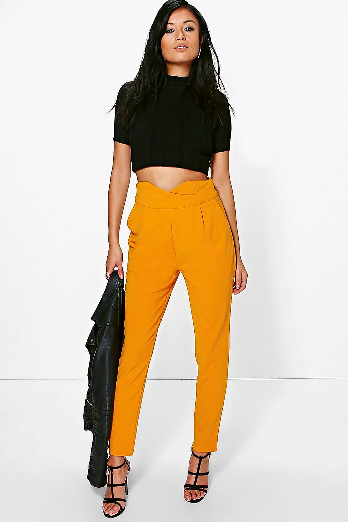 Natalya High Waisted Tailored Trousers