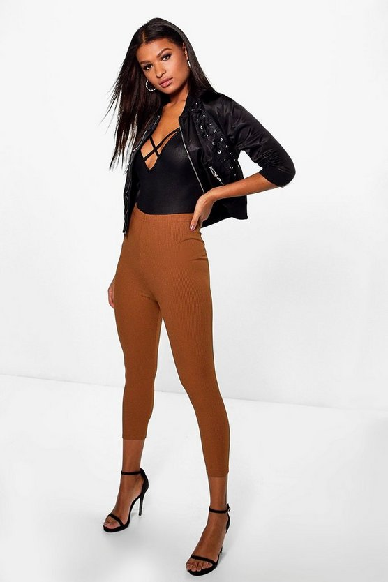 Anja Highwaist 3/4 Length Ribbed Leggings