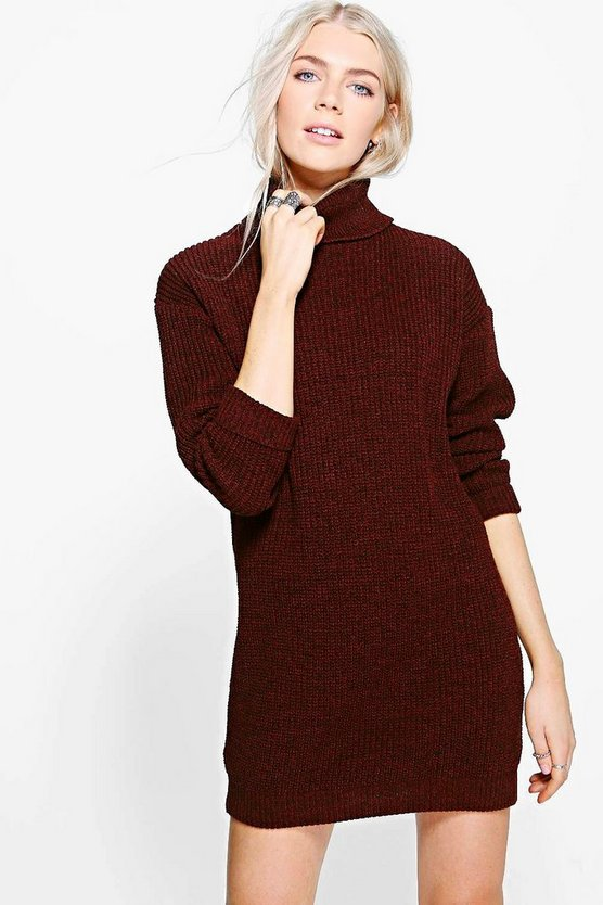 Jessica Fisherman Roll Neck Jumper Dress