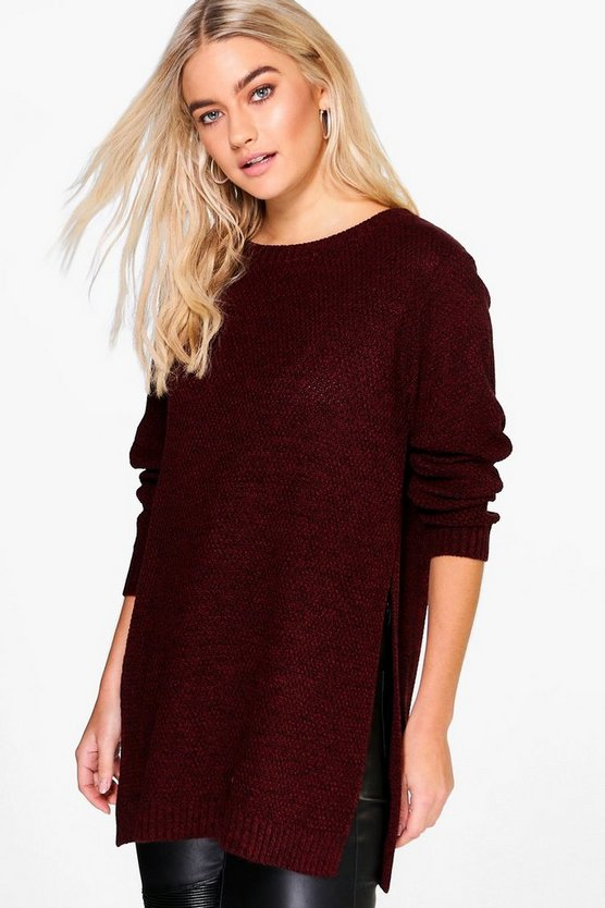 Emily Marl Side Split Tunic Jumper