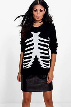 Erin Skeleton Halloween Jumper