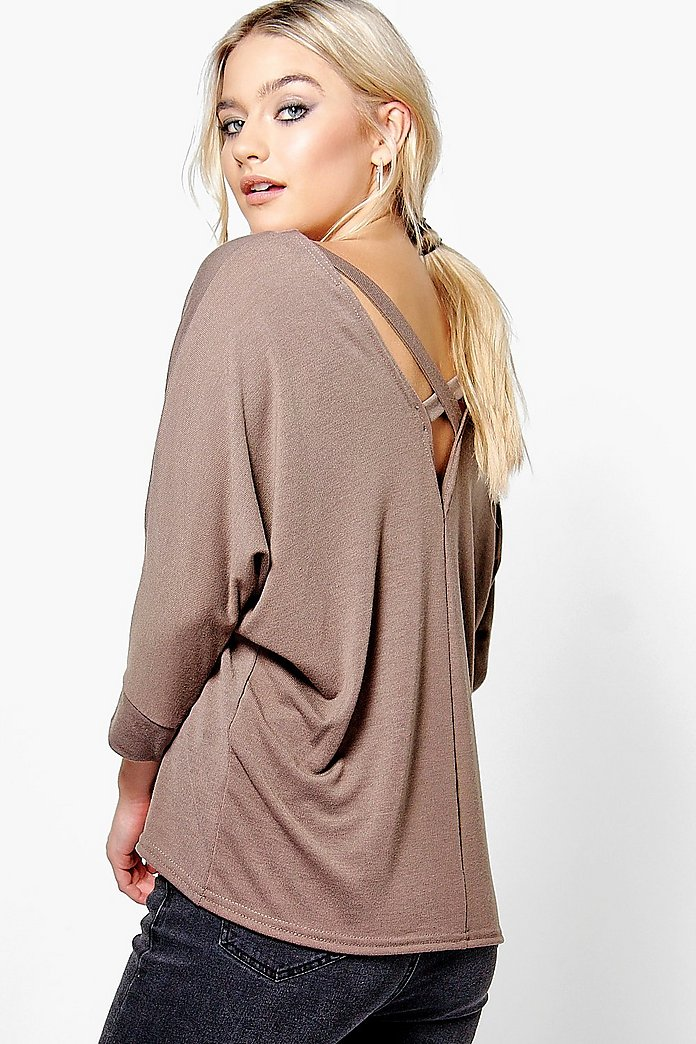 Sophie Cross Back Batwing Jumper