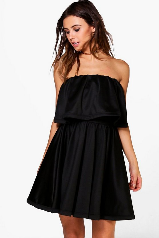 Posie Bandeau Double Layer Skater Dress