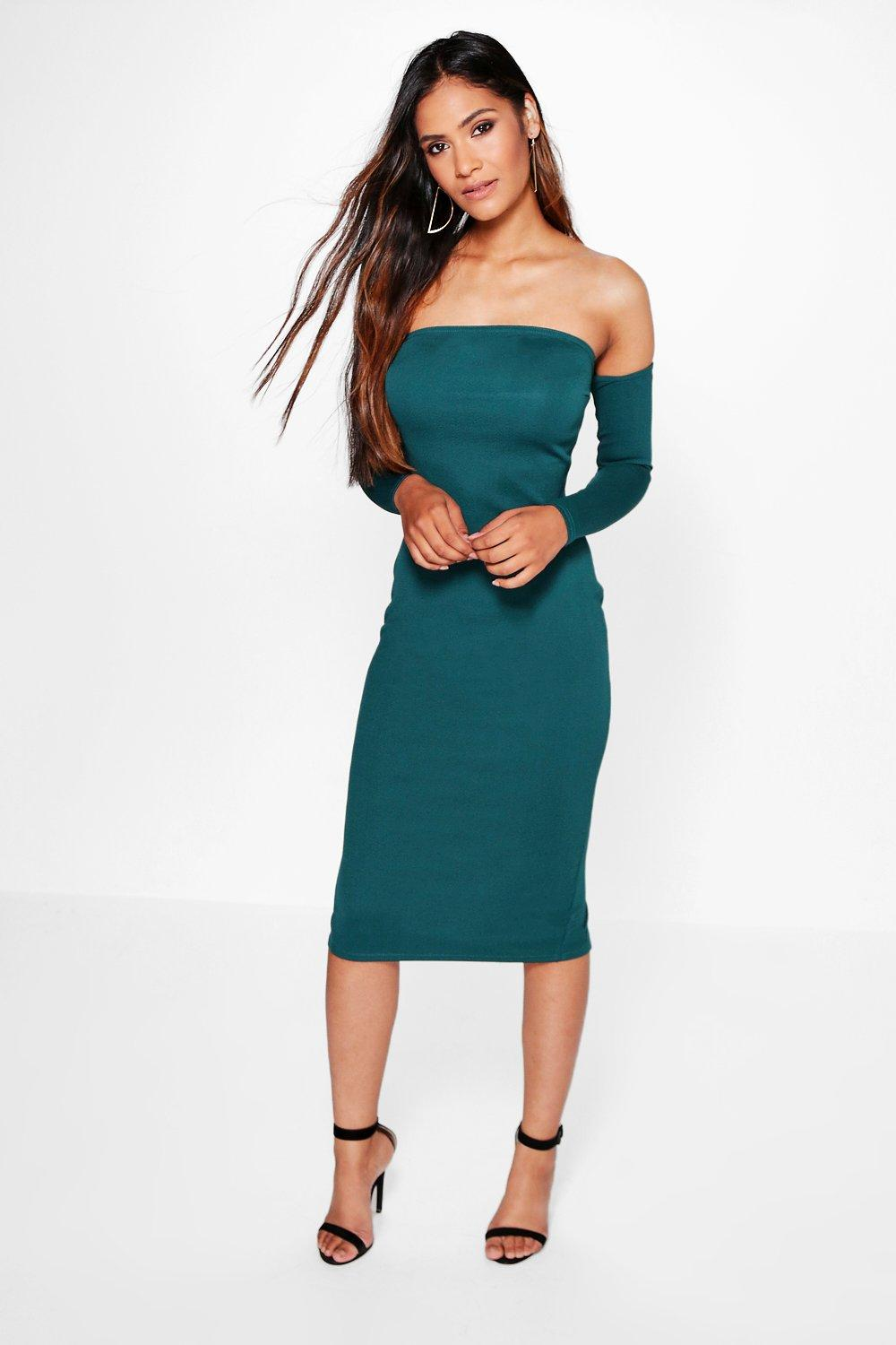 Samara Off Shoulder Midi Bodycon Dress