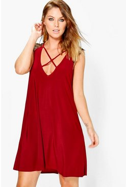 Eliana Strappy Lace Detail Shift Dress