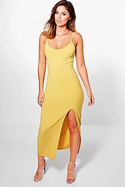 Emmaline Strappy Thigh Split Midaxi Dress
