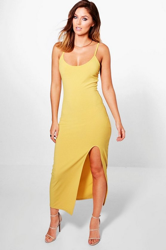Emmaline Strappy Thigh Split Midaxi Dress