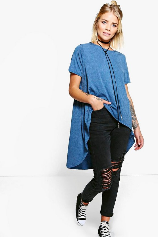 Dianne Oversized Dip Back T-Shirt