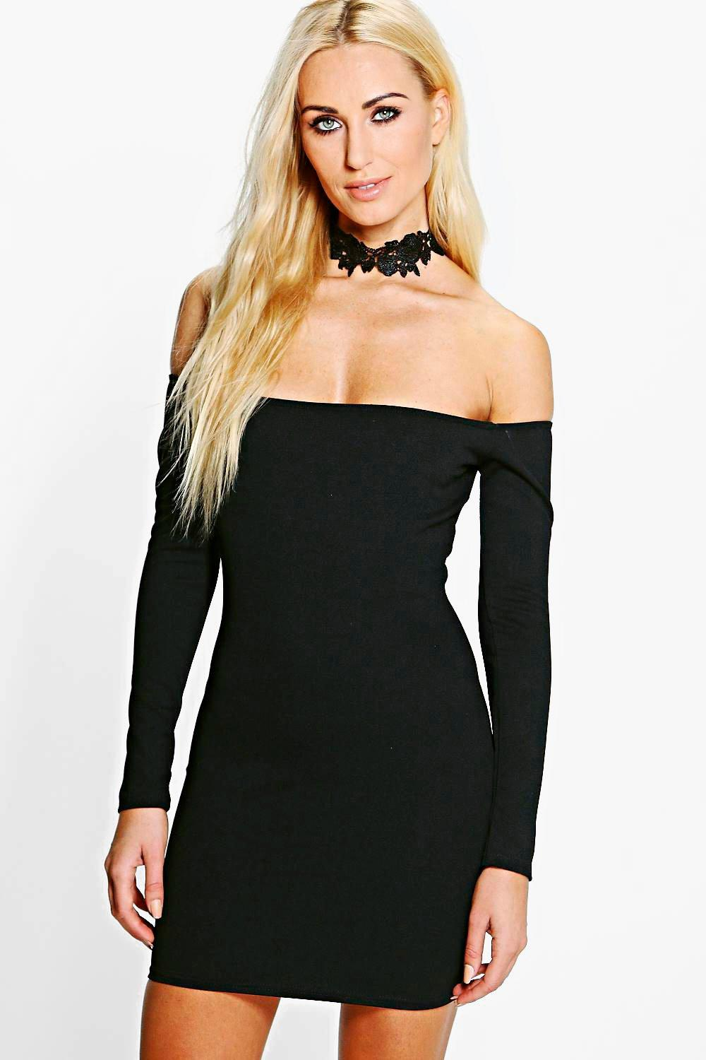 Melissa Lace Off Shoulder Bodycon Dress