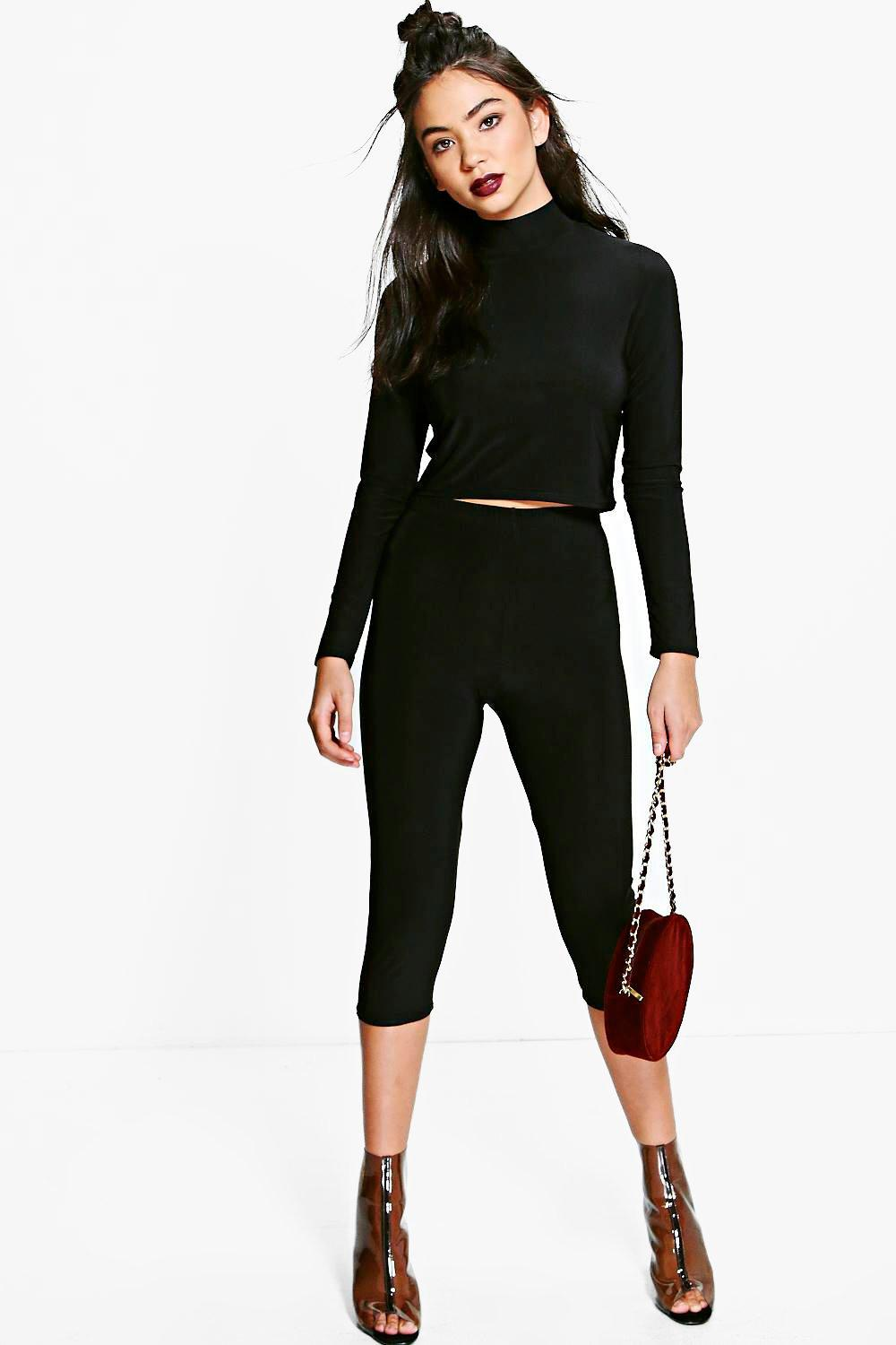 Lucy Slinky High Neck Crop & Legging Co-Ord