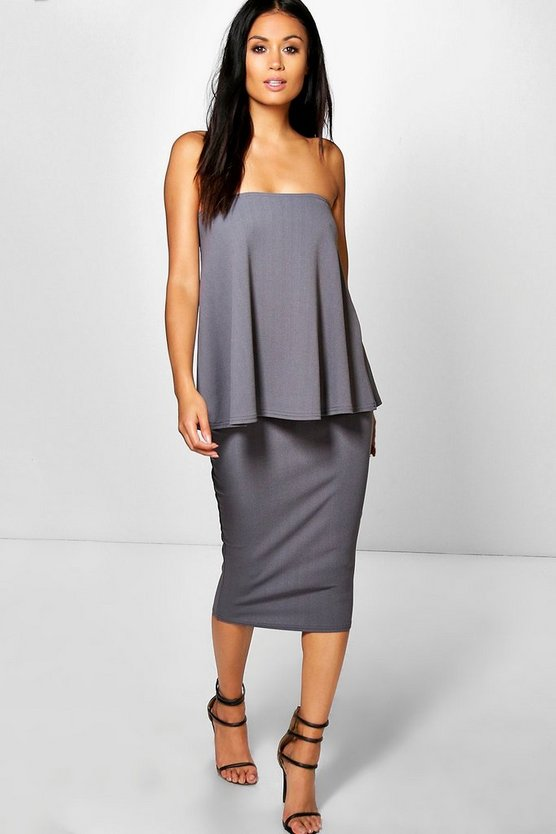 Kelly Longline Bandeau & Midi Skirt Co-Ord