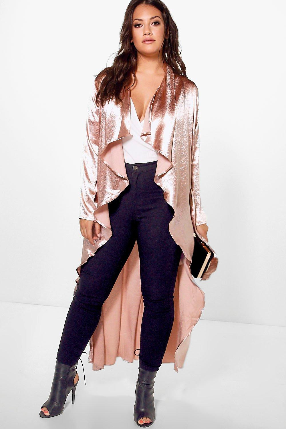 Jordyn Satin Waterfall Duster