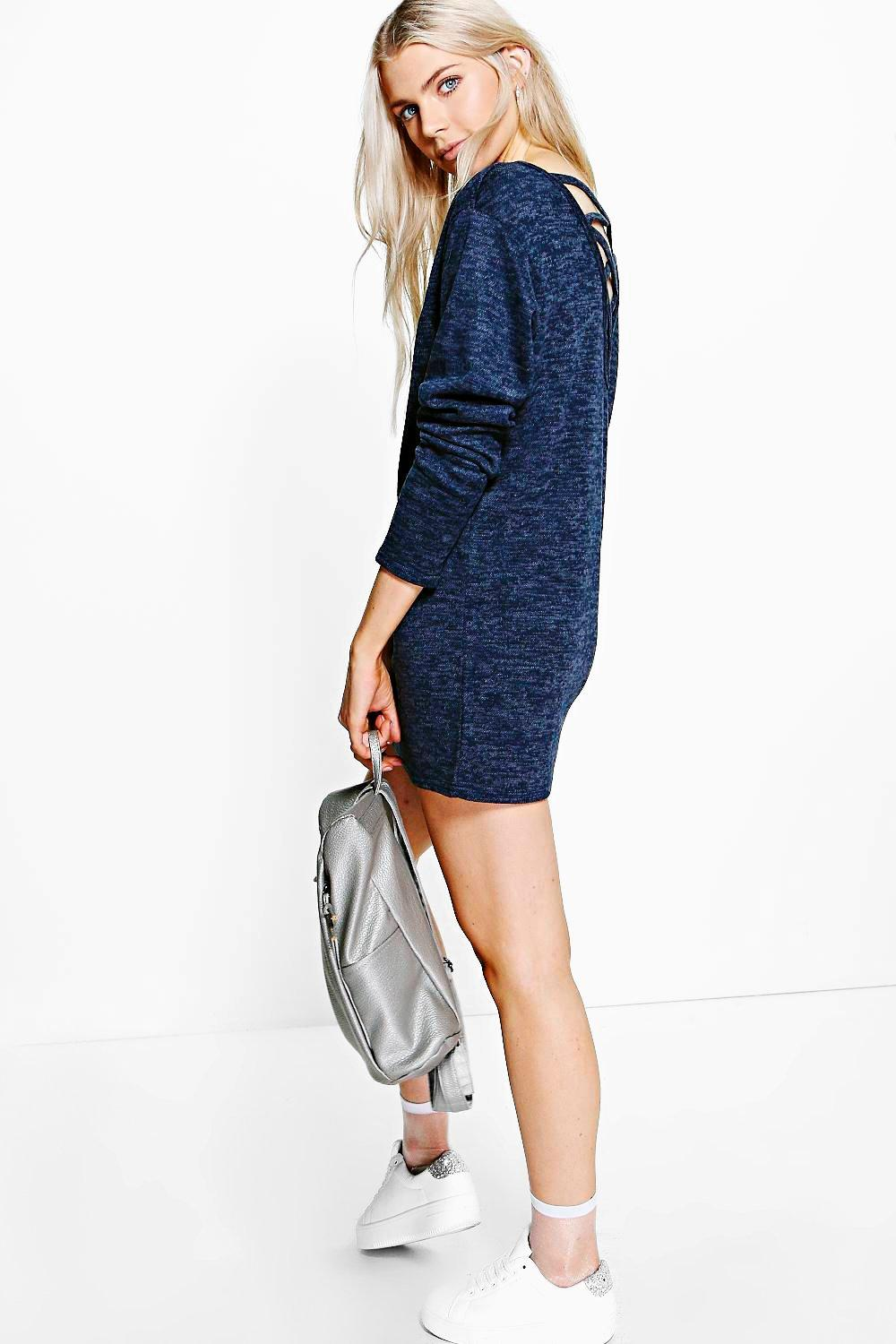 Hebe Cross Back Sweatshirt Dress