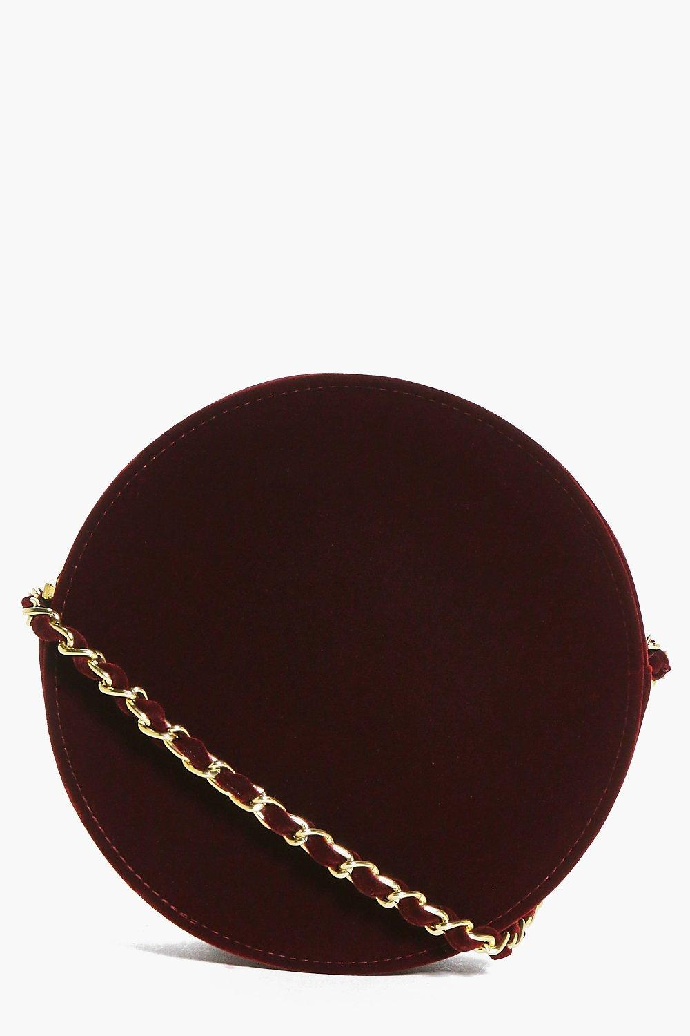 Layla Velvet Chain Strap Cross Body Bag
