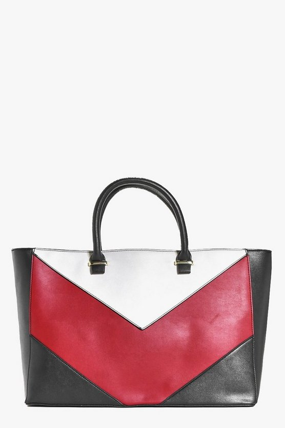 Abigail Colour Block Structured Day Bag