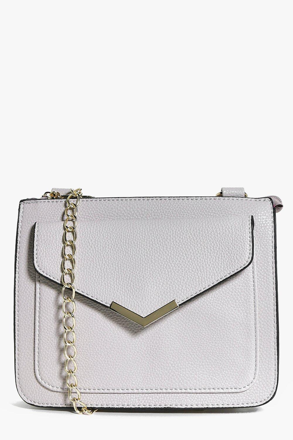 Megan Envelope Metal Trim Cross Body Bag