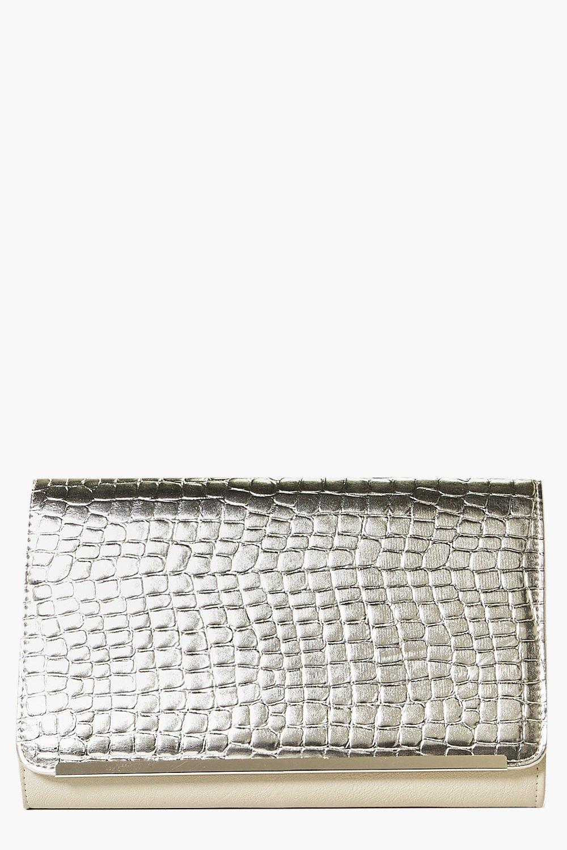 Alice Metallic Metal Trim Clutch Bag