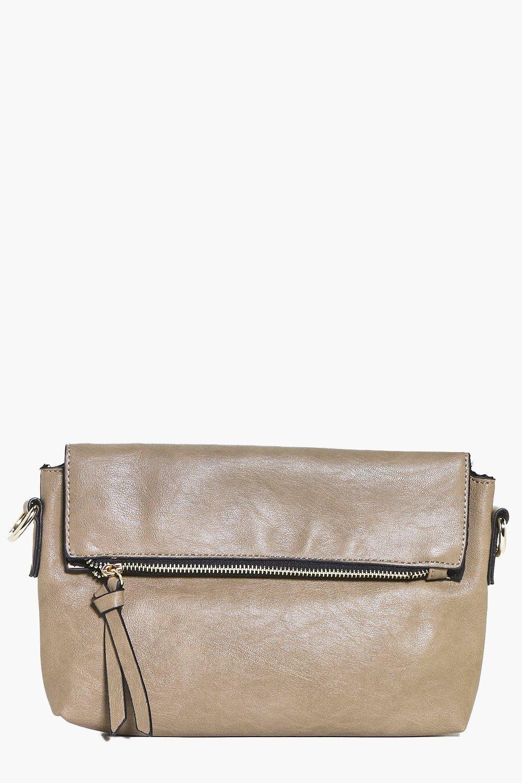 Grace Zip Detail Fold Over Clutch Bag