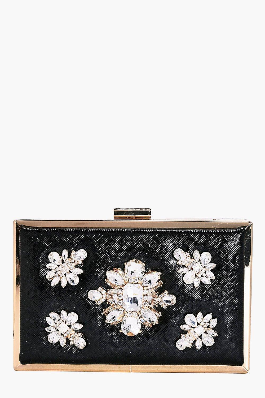 Ava Boutique Embellished Box Clutch Bag