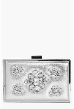 Ava Boutique Embellished Box Clutch Bag