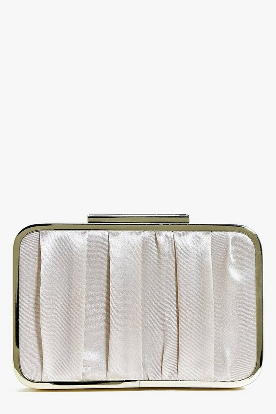 Lily Metal Frame Box Clutch Bag