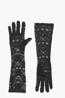 Halloween Natalia Long Length Lace Gloves