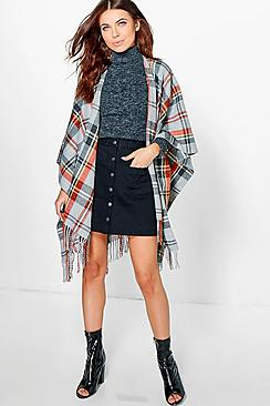 Summer Tartan Check Cape