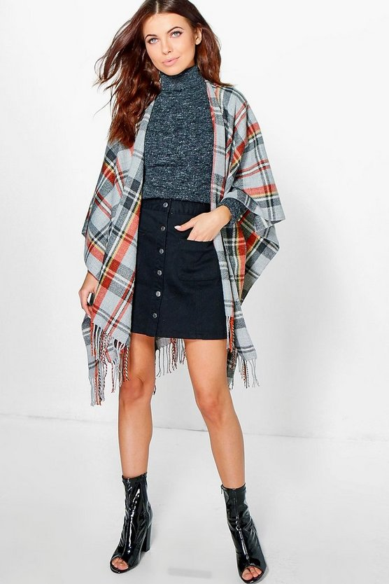 Grace Tartan Check Cape