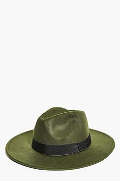 Lauren Wool Mix Ribbon Band Fedora