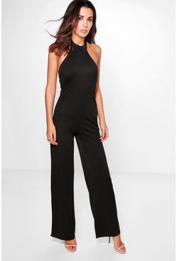 Beth High Neck Wide Leg Jumpsuit