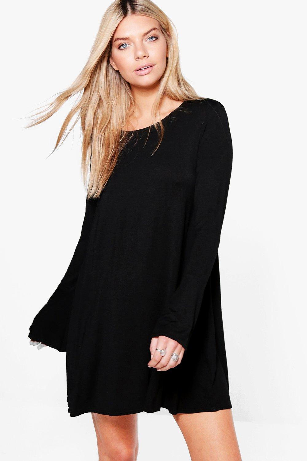 Layne Flared Sleeve Swing Dress