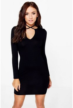 Georgie Wrap Plunge Bodycon Dress