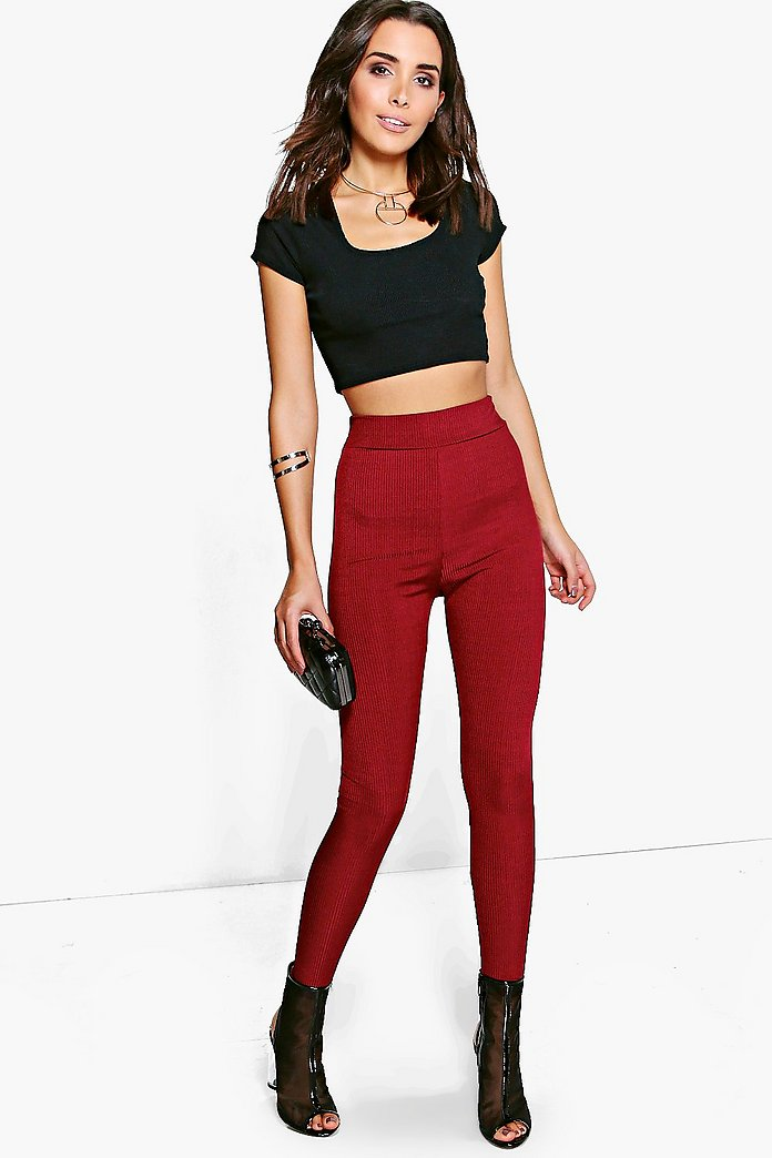 Amarah Disco Rib Highwaist Leggings