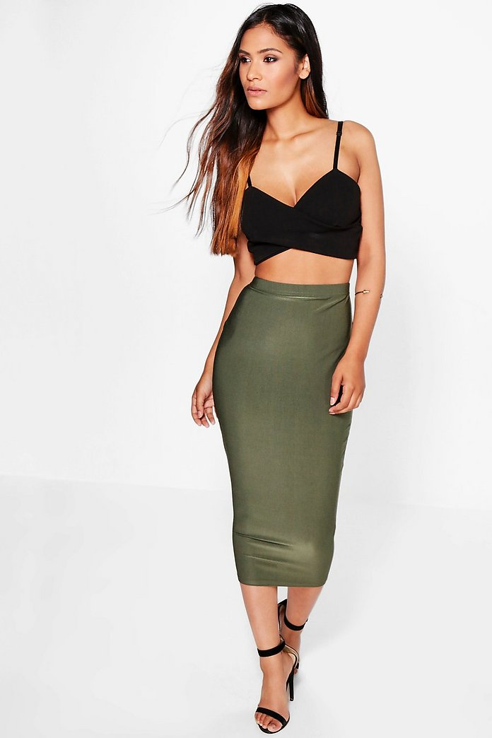 Lili Longer Line Disco Midi Skirt