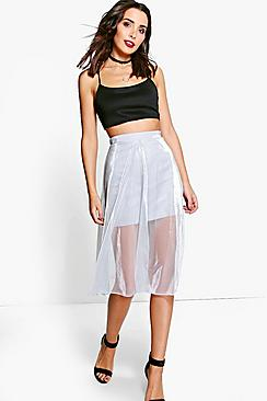 Marlin Sheer Overlay Skater Skirt