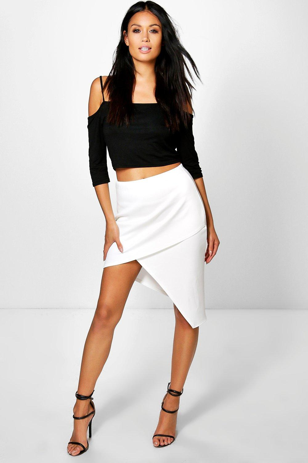 Lucia Asymetric Wrap Midi Skirt