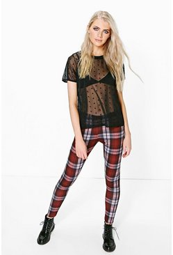 Alaia Tonal Check Print Leggings