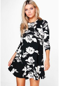 Marielle Floral Long Sleeved Swing Dress