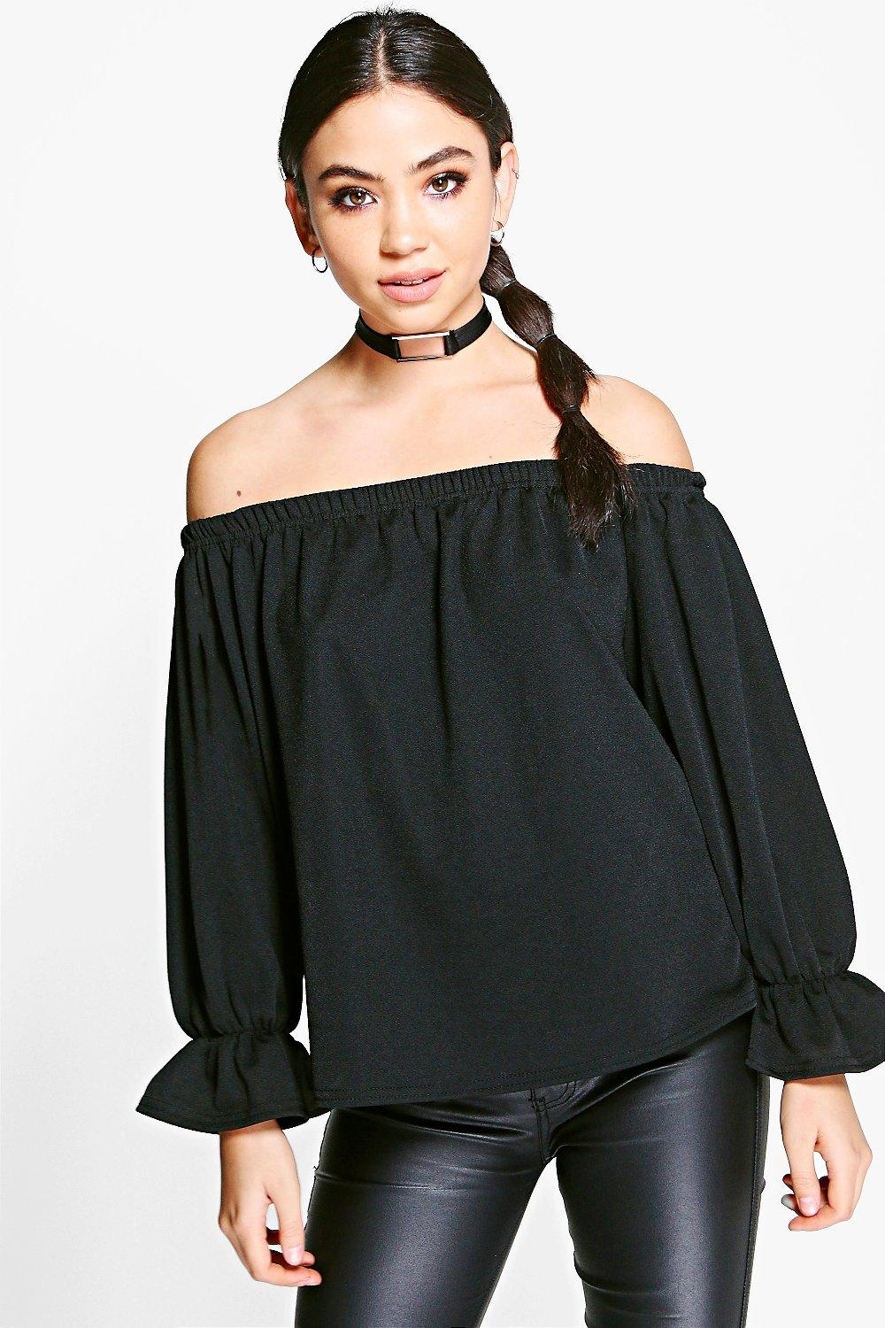 Evie Buckle Detail Choker Top