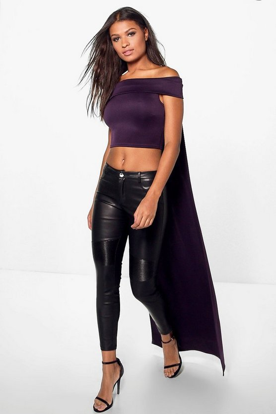 Hailey Boutique Train Off The Shoulder Crop