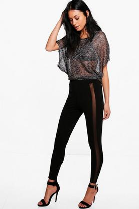 Grace Sheer Mesh Panel Leggings