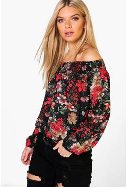 Isabella Printed Gypsy Top