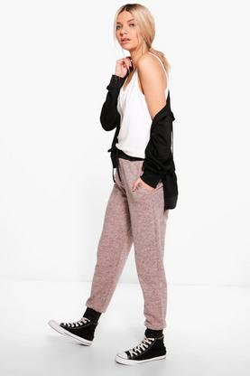 Amelle Soft Knit Contrast Cuff Joggers