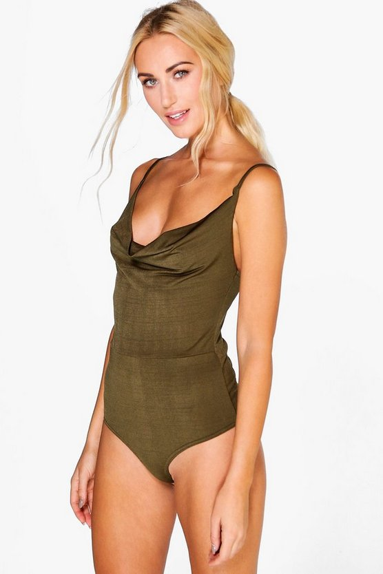Ruth Drape Front Strappy Bodysuit